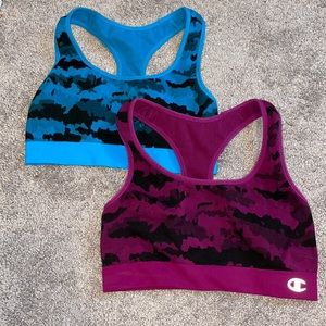 (2) large Champion sports bras women's running